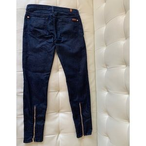 7 for All Mankind Gold Zippered Jeans Size 28